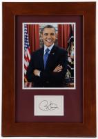Barack Obama Signed 14x20 Custom Framed Cut Display (JSA LOA) at PristineAuction.com