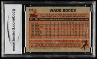 Wade Boggs 1983 Topps #498 RC (BCCG 9) at PristineAuction.com