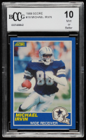 Michael Irvin 1989 Score #18 RC (BCCG 10) at PristineAuction.com
