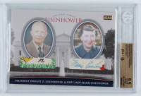 Dwight D. Eisenhower / Mamie Eisenhower 2015 The Bar Cut Autographs #TBFFDE01 The First Family (BGS 9.5) at PristineAuction.com
