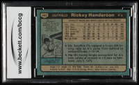 Rickey Henderson 1980 Topps #482 RC (BCCG 8) at PristineAuction.com