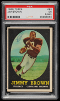 Jim Brown 1958 Topps #62 RC (PSA 5) (MK) at PristineAuction.com
