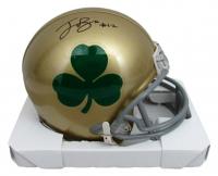 Ian Book Signed Notre Dame Fighting Irish Mini-Helmet (Beckett COA) at PristineAuction.com