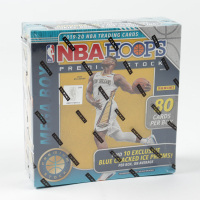 2019 / 20 Panini Hoops Premium Stock Basketball Mega Box (80 Cards) (Blue Prizms) with (18) Packs (See Description) at PristineAuction.com