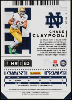 Chase Claypool 2020 Panini Contenders Draft Picks Draft Ticket Blue Foil #136 Autograph at PristineAuction.com