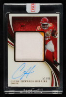 Clyde Edwards-Helaire 2020 Immaculate Collection #111 Jersey Autograph RC EXCH (Panini Encapsulated) at PristineAuction.com