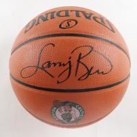 Larry Bird Signed Celtics Logo NBA Game Ball Series Basketball (Schwartz Sports COA & Bird Hologram) at PristineAuction.com