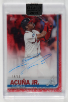 Ronald Acuna Jr. 2019 Topps Clearly Authentic Autographs Red #CAARA (Topps Encapsulated) at PristineAuction.com