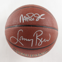 Magic Johnson & Larry Bird Signed NBA Basketball (Schwartz COA & Bird Hologram) at PristineAuction.com