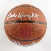 Bobby Knight Signed Indiana Hoosiers Logo Basketball (Schwartz Sports COA) at PristineAuction.com