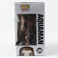 "Jason Momoa Twice-Signed ""Justice League"" #205 Aquaman DC Funko Pop! Vinyl Figure (Beckett Hologram) (See Description) at PristineAuction.com"