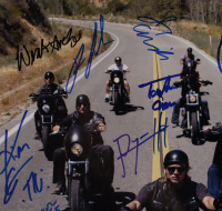 """Sons of Anarchy"" 11x14 Photo Cast-Signed by (17) with Kurt Sutter, Katey Sagal, Tommy Flanagan, Kim Coates, Ron Perlman with Inscriptions (Beckett LOA) at PristineAuction.com"