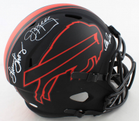 Jim Kelly, Thurman Thomas, & Andre Reed Signed Bills Full-Size Eclipse Alternate Speed Helmet (JSA COA) at PristineAuction.com