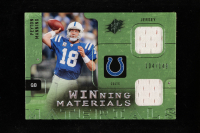 Peyton Manning 2009 SPx Winning Materials Green Dual Swatch #WPM at PristineAuction.com