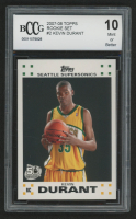 2007-08 Topps Rookie Set #2 Kevin Durant (BCCG 10) at PristineAuction.com