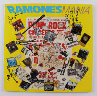 "Ramones ""Ramones Mania"" Vinyl Record Album Band -Signed by (4) with Joey Ramone, Marky Ramone, Dee Dee Ramone, & Johnny Ramone (PSA LOA) at PristineAuction.com"