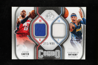 Vince Carter / Carmelo Anthony 2009-10 SP Game Used Combo Materials #CMCA at PristineAuction.com