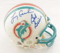 Dolphins Mini Helmet Signed by (5) with Bob Griese, Larry Csonka, Paul Warfield, Earl Morrall, & Jim Kiick (Beckett LOA) (See Description) at PristineAuction.com