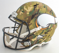 "Harrison Smith Signed Vikings Full-Size Camo Alternate Speed Helmet Inscribed ""HITMAN"" (Beckett Hologram) at PristineAuction.com"