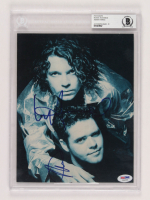 Michael Hutchence & Andrew Farriss Signed INXS 8x10 Photo (BGS Encapsulated) at PristineAuction.com