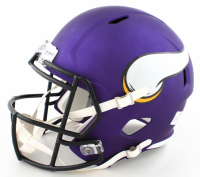 Harrison Smith Signed Vikings Full-Size Matte Purple Speed Helmet (Beckett Hologram) at PristineAuction.com