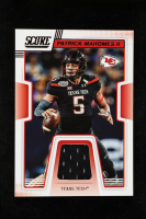 Patrick Mahomes II 2019 Score Collegiate Jerseys #4 at PristineAuction.com