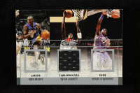 Kobe Bryant / Kevin Garnett / Amare Stoudemire 2003-04 Fleer Mystique Rare Finds #1 w/ Game-Worn Jersey at PristineAuction.com