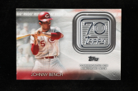 Johnny Bench 2021 Topps 70th Anniversary Commemorative Logo Patches #70LPJB at PristineAuction.com