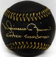 "Mariano Rivera Signed OML Black Leather Baseball Inscribed ""Enter Sandman"" (JSA COA) at PristineAuction.com"
