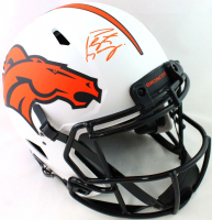 Peyton Manning Signed Broncos Full-Size Authentic On-Field Lunar Eclipse Alternate Speed Helmet (Fanatics Hologram) at PristineAuction.com