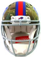 Josh Allen Signed Bills Full-Size Authentic On-Field Camo Alternate Speed Helmet (Beckett COA) at PristineAuction.com