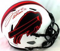 Josh Allen Signed Bills Full-Size Authentic On-Field Lunar Alternate Speed Helmet (Beckett COA) at PristineAuction.com