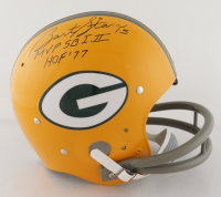 "Bart Starr Signed Packers Full-Size Throwback Suspension Helmet Inscribed ""MVP SB I, II"" & ""HOF '77 (TriStar Hologram) at PristineAuction.com"
