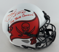 """Mike Alstott Signed Buccaneers Full-Size Lunar Eclipse Alternate Speed Helmet Inscribed """"Fire Those Cannons!"""" (Beckett Hologram) at PristineAuction.com"""