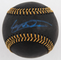 Vladimir Guerrero Jr. Signed OML Black Leather Baseball (JSA COA) at PristineAuction.com