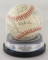 1982 Athletics OAL Baseball Team-Signed by (31) with Rickey Henderson, Dwayne Murphy, Wayne Gross, Tom Underwood (BGS Encapsulated) (See Description) at PristineAuction.com