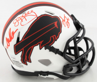 Andre Reed, Thurman Thomas & Jim Kelly Signed Bills Lunar Eclipse Alternate Speed Mini Helmet (JSA COA) at PristineAuction.com