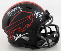 Andre Reed, Thurman Thomas & Jim Kelly Signed Bills Eclipse Alternate Speed Mini Helmet (JSA COA) (See Description) at PristineAuction.com