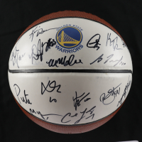 2012-13 Warriors Logo Basketball Team-Signed by (19) with Stephen Curry, Draymond Green, Richard Jefferson, Pete Myers, Harrison Barnes, Klay Thompson (Beckett LOA) (See Description) at PristineAuction.com
