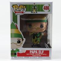 """Bob Newhart Signed """"Elf"""" #486 Papa Elf Funko Pop! Vinyl Figure Inscribed """"Hi From Papa Elf"""" (Beckett COA) at PristineAuction.com"""