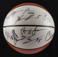 2001-02 Wizards Team-Signed by (12) with Michael Jordan, Bobby Simmons, Kwame Brown, Etan Thomas, Tyronn Lue & Hubert Davis (Beckett LOA, UDA Hologram & JSA Hologram) (See Description) at PristineAuction.com
