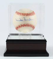 Duke Snider Signed ONL Baseball with Display Case (PSA COA) (See Description) at PristineAuction.com