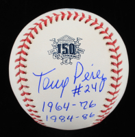 "Tony Perez Signed 150th Anniversary Commemorative OML Baseball Inscribed ""1964-76"" & ""1984-86"" (PSA COA) at PristineAuction.com"