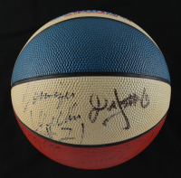 1987 NBA All-Star Game Logo Mini Basketball Multi-Signed by (10) with Michael Jordan, Magic Johnson, Kevin McHale, Alex English, & Tom Chambers (Beckett LOA) (See Description) at PristineAuction.com