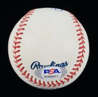 Bret Saberhagen Signed OML Baseball With Display Case (PSA COA) at PristineAuction.com