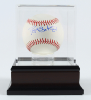 Bret Saberhagen Signed OML Baseball With Display Case (PSA COA) at PristineAuction.com