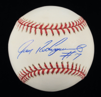 Ivan Rodriguez Signed OML Baseball With Display Case (PSA COA) (See Description) at PristineAuction.com