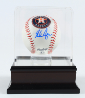 Nolan Ryan Signed Astros Logo OML Baseball With Display Case (PSA COA) (See Description) at PristineAuction.com