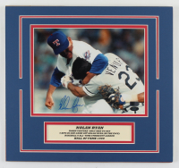 Nolan Ryan Signed Rangers 13x14 Custom Matted Photo Display (AIV COA & Ryan Hologram) at PristineAuction.com