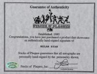 Nolan Ryan Signed Rangers 11x14 Custom Matted Photo Display (SOP COA & Ryan Hologram) at PristineAuction.com